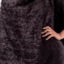Black Knitted Fur